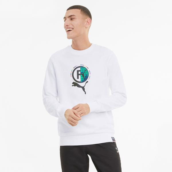 Puma International Graphic Erkek Beyaz Sweatshirt