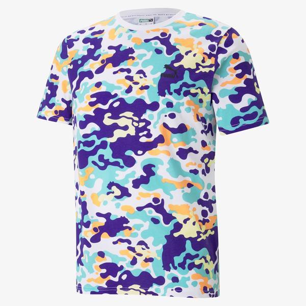 Puma Classics Graphics Erkek Beyaz T-Shirt