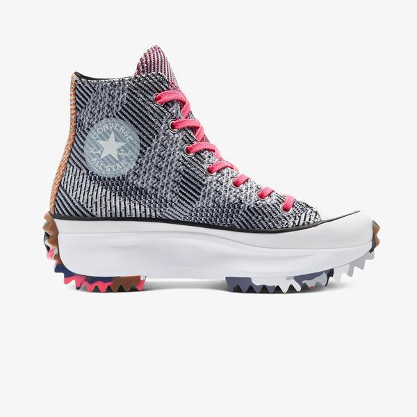 Converse Run Star Hike Platform Knit Print Hi Kadın Mavi Sneaker