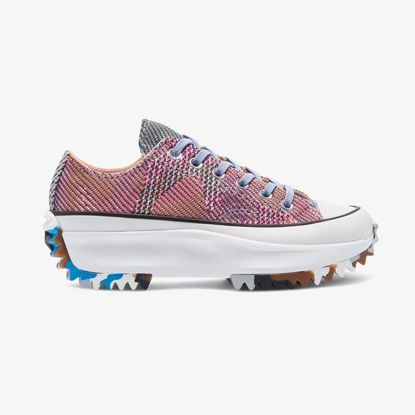Converse Run Star Hike Platform Knit Print Unisex Turuncu Sneaker
