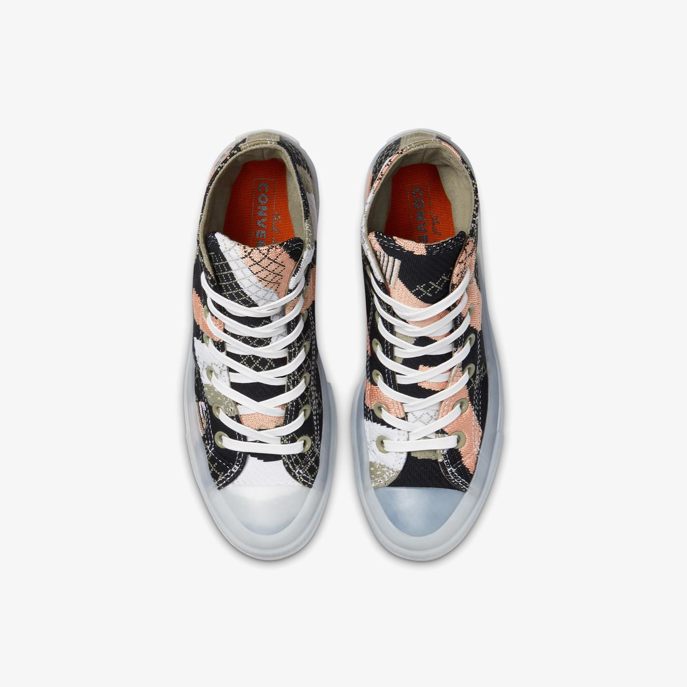 Converse Chuck 70 Knit Print Hi Kadın Siyah Sneaker