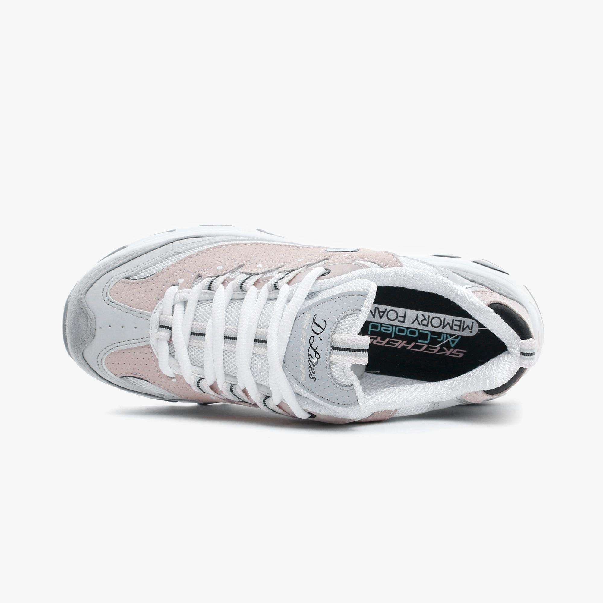 Skechers D'Lites-Free Energy Kadın Beyaz-Gri-Pembe Spor Ayakkabı