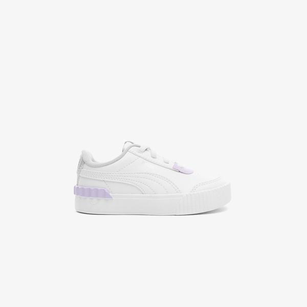 Puma Carina Lift Shine Bebek Beyaz Spor Ayakkabı