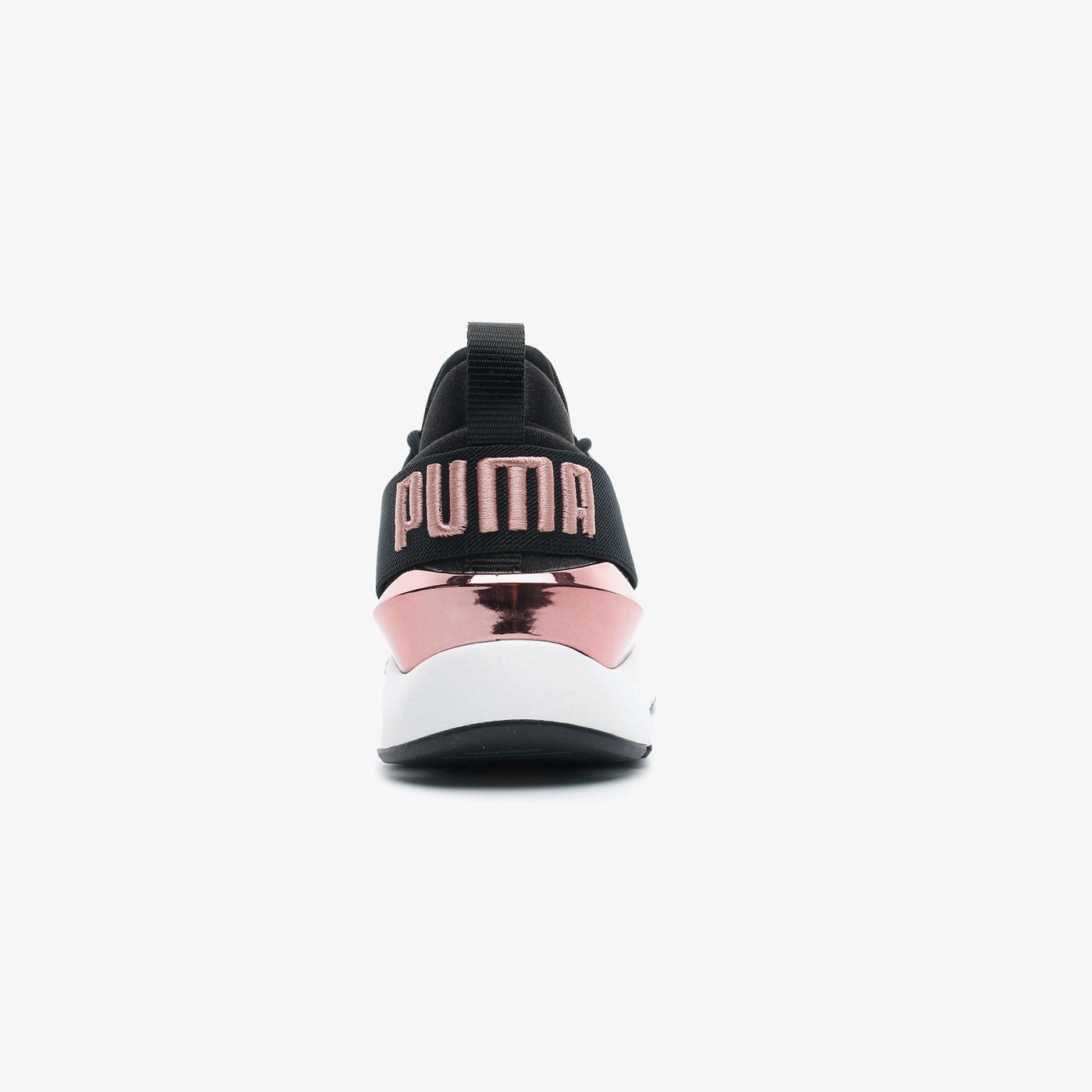 Puma Muse X3 Metallic Kadın Siyah Spor Ayakkabı
