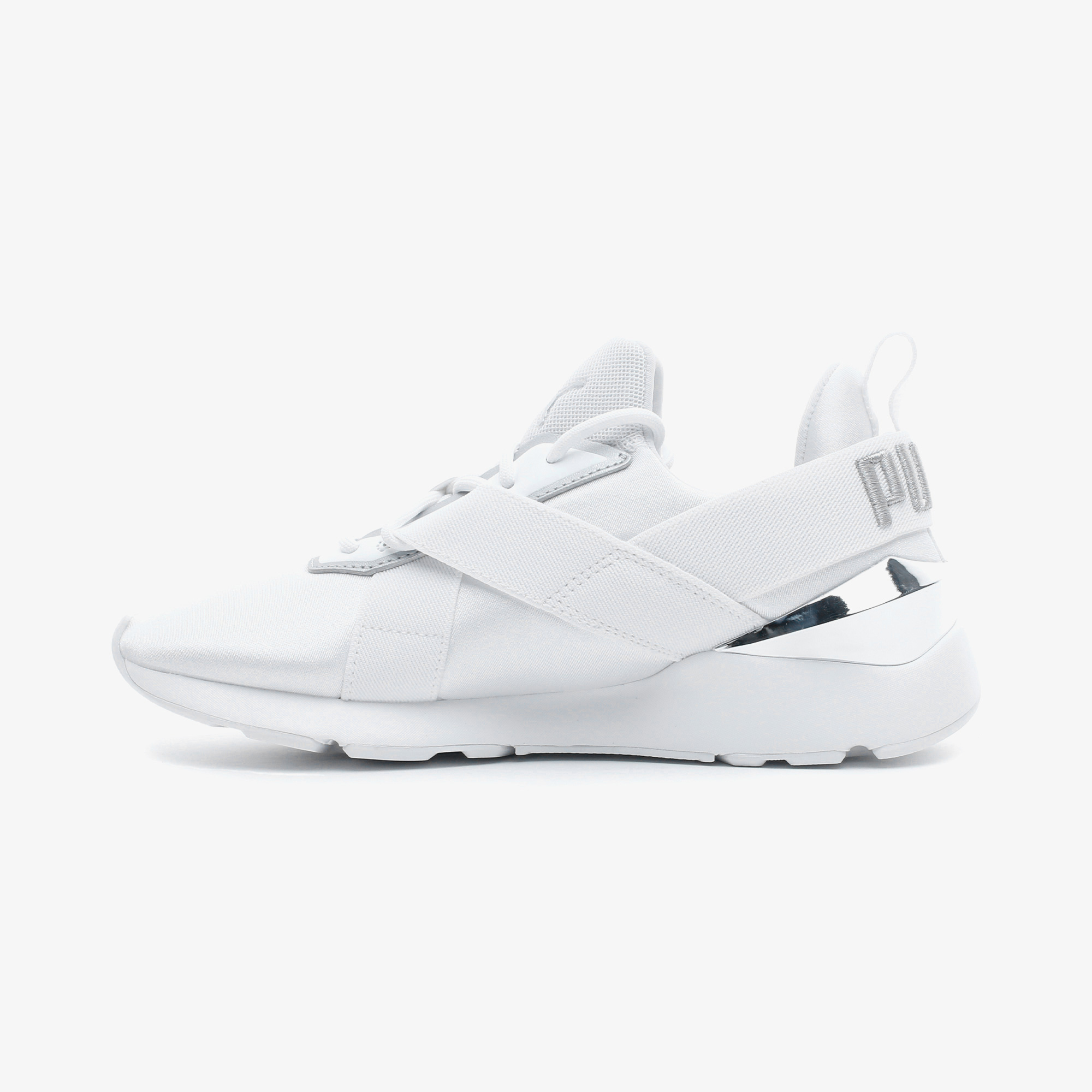 Puma Muse X3 Metallic Kadın Beyaz Spor Ayakkabı