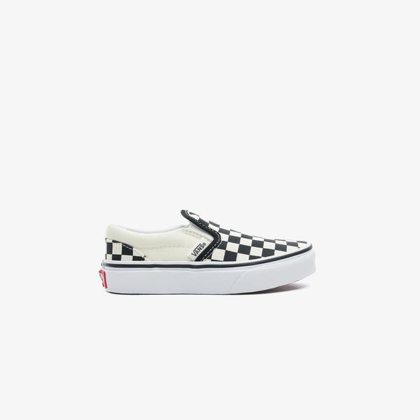 Vans Classic Slip-On Checkerboard Çocuk Siyah Sneaker