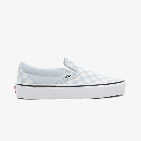Vans Classic Slip-On Checkerboard Kadın Mavi Sneaker