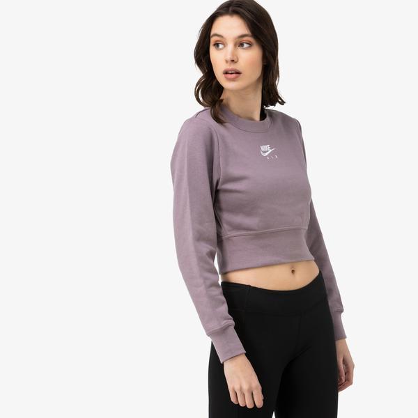 Nike Air Kadın Mor Sweatshirt