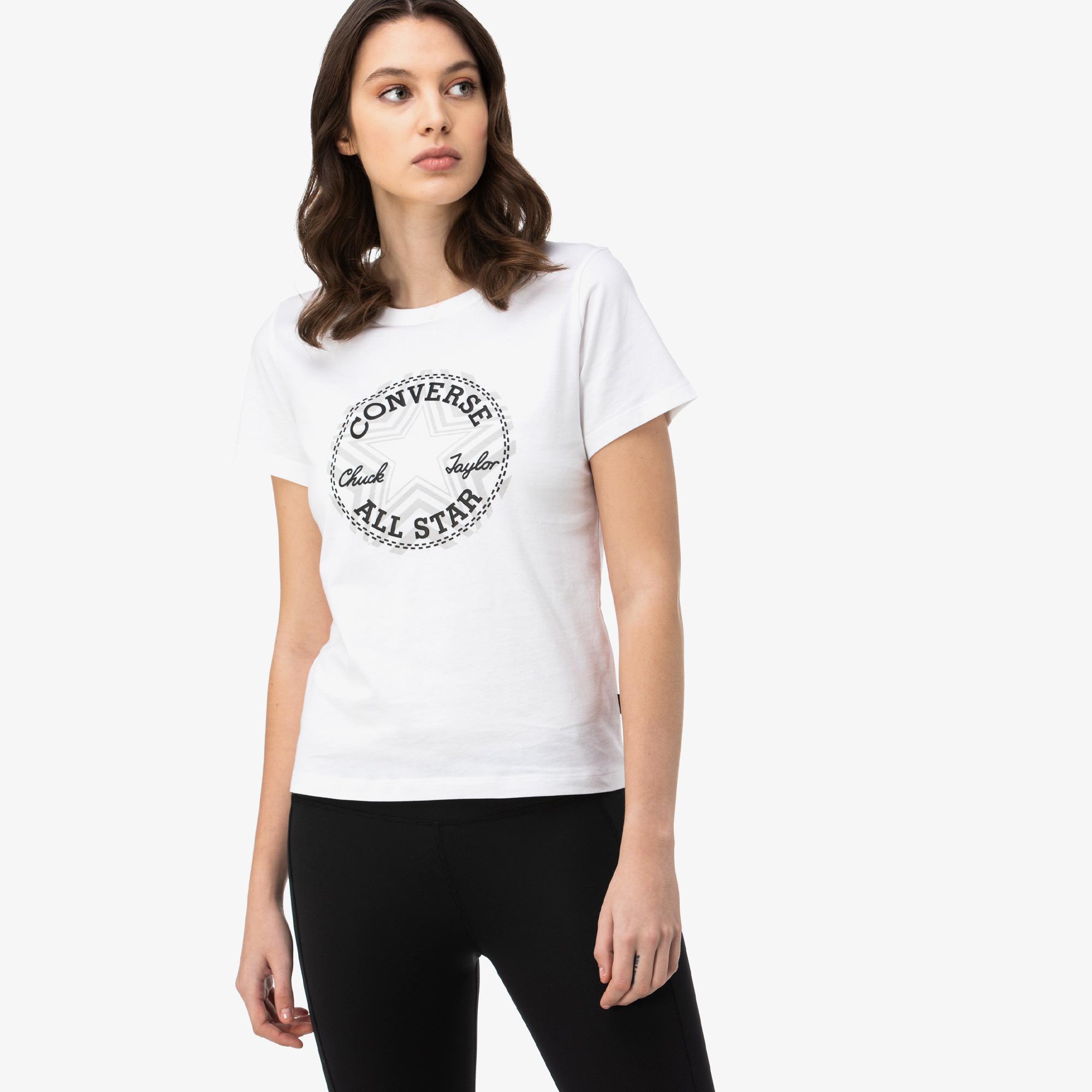 Converse Multi Star Chuck Patch Kadın Beyaz T-Shirt