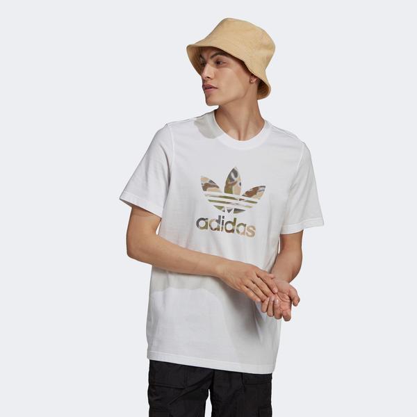 adidas Camo İnfill Erkek Beyaz T-Shirt