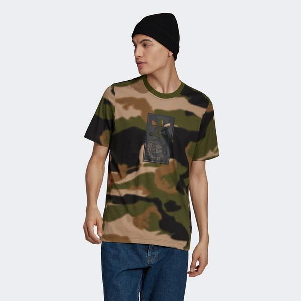 adidas Camo Aop Tongue Erkek Kamuflaj T-Shirt