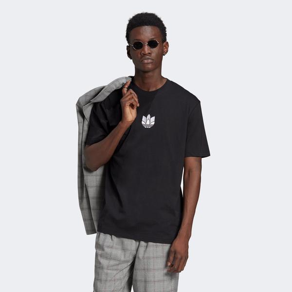 adidas 3D Trefoil Erkek Siyah T-Shirt