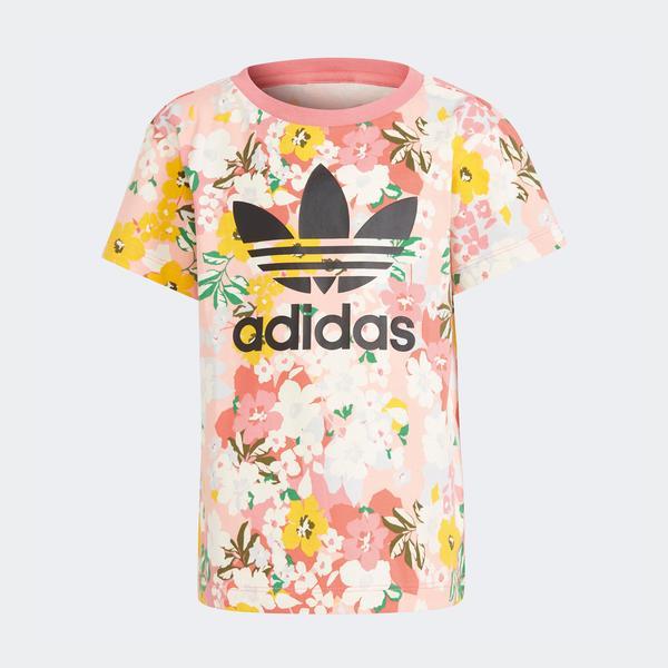adidas HER Studio London Floral Çocuk Pembe T-Shirt
