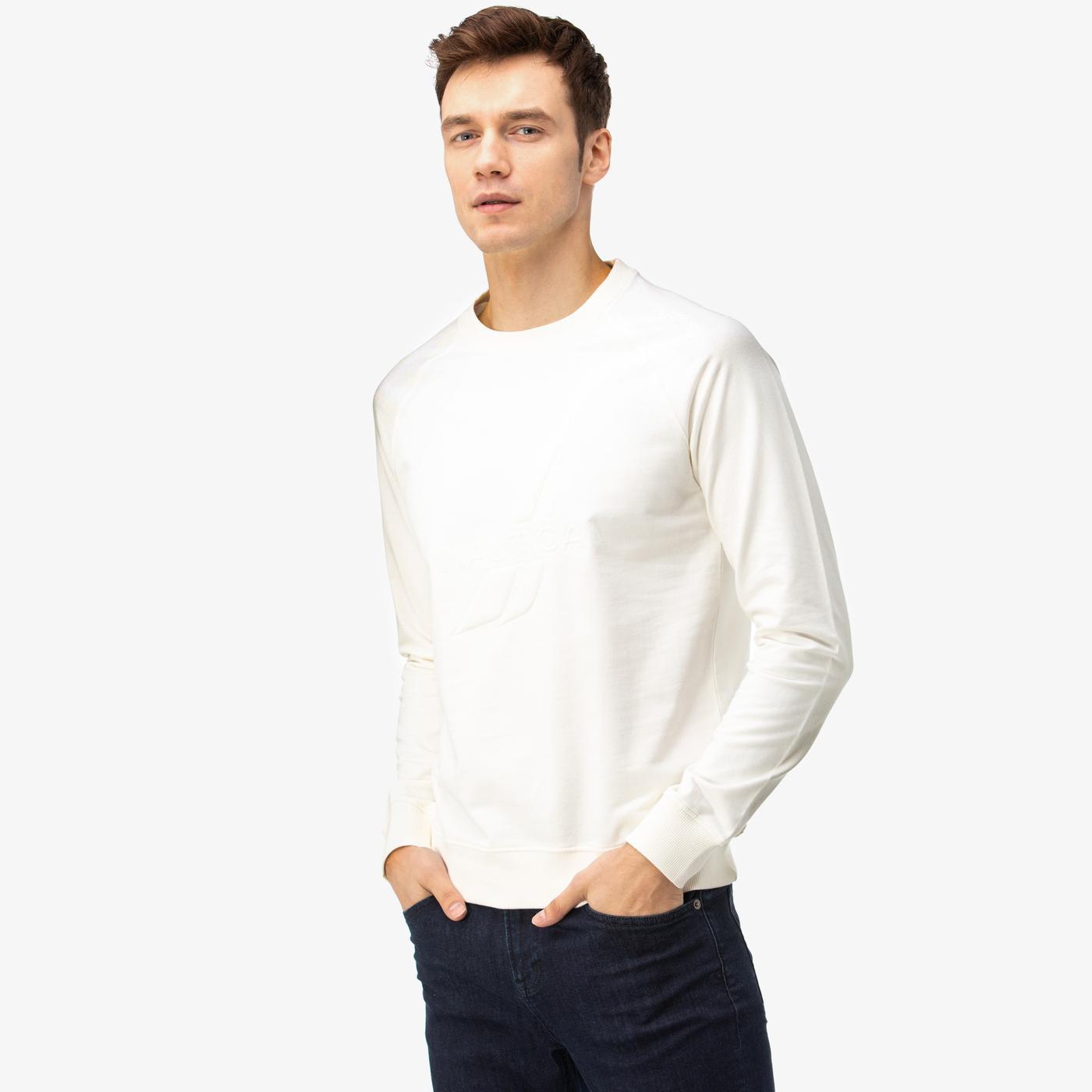 Nautica Erkek Kırık Beyaz Sweatshirt