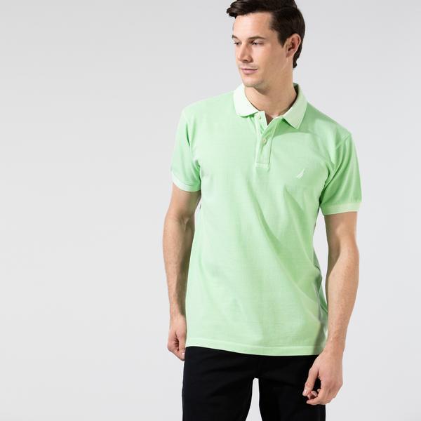 Nautica Erkek Yeşil Classic Fit Yıkamalı Polo