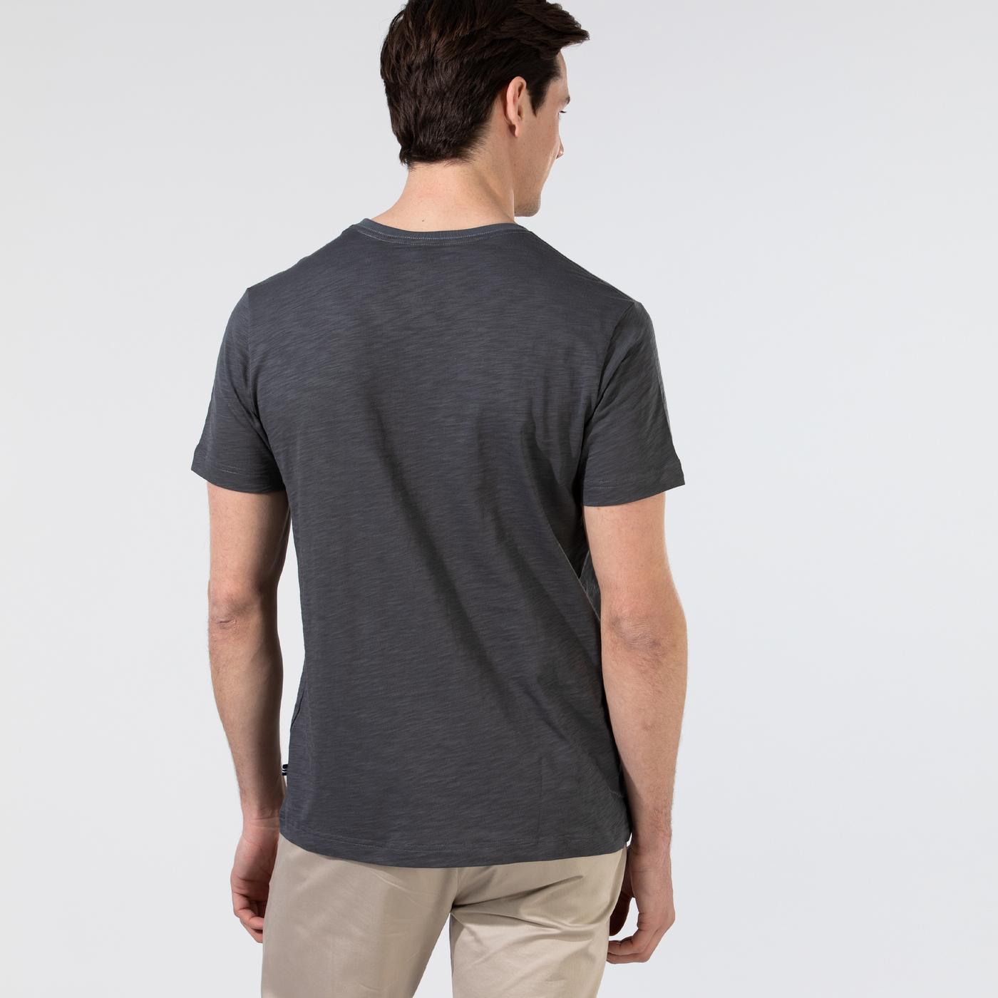 Nautica Erkek Gri V-Yaka T-Shirt