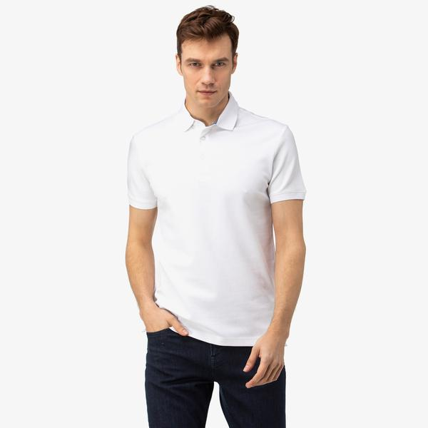 Nautica Erkek Beyaz Slim Fit Polo