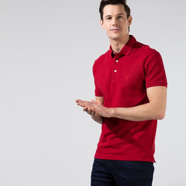 Nautica Erkek Kırmızı Slim Fit Polo