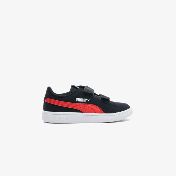 Puma Smash V2 Buck Çocuk Siyah Spor Ayakkabı