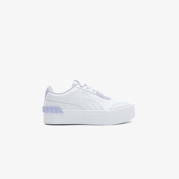 Puma Carina Lift Shine Çocuk Beyaz Spor Ayakkabı
