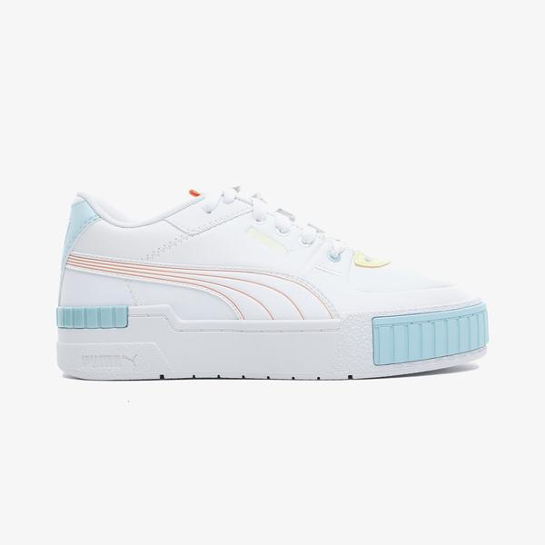 Puma Cali Sport Pastel Mix Kadın Beyaz Spor Ayakkabı