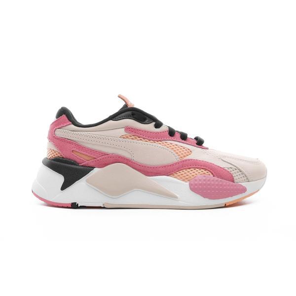 Puma RS-X³ Mesh Pop Kadın Bej-Pembe Spor Ayakkabı