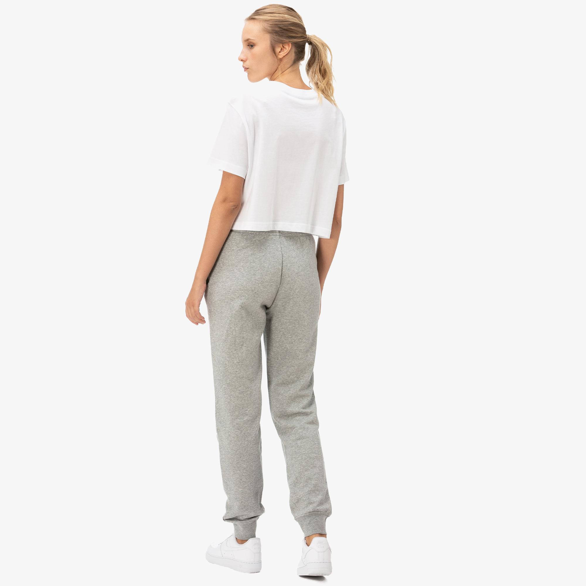 Nike Essntl Pant Reg Flc Kadın Gri Eşofman Altı