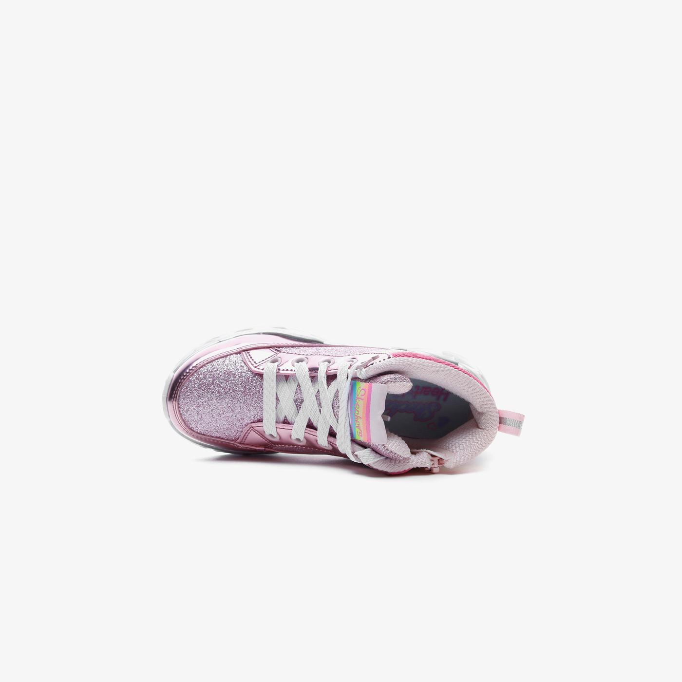 Skechers Heart Lights Işıklı Metalik Pembe Çocuk Spor Ayakkabı