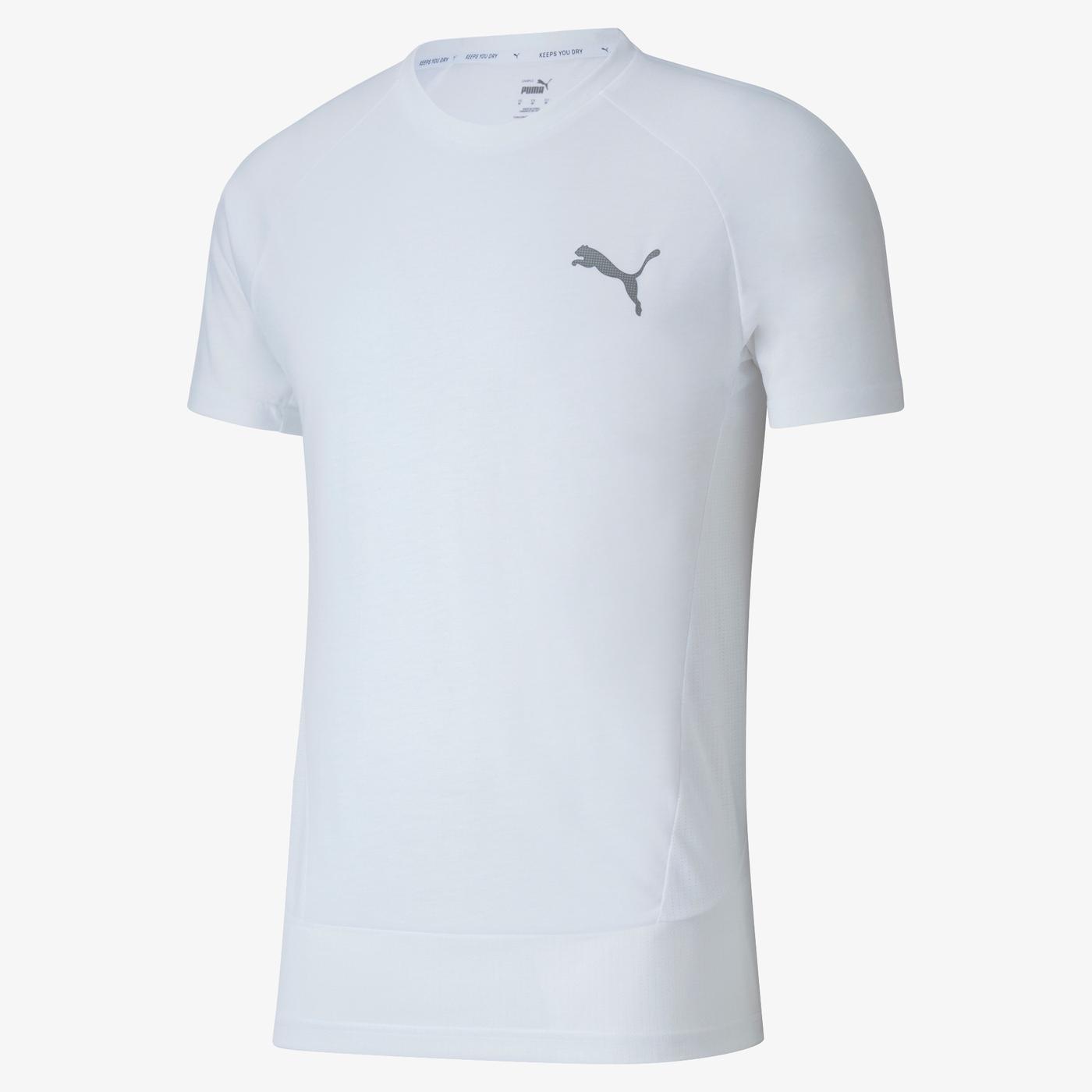 Puma Evostripe Erkek Beyaz T-Shirt