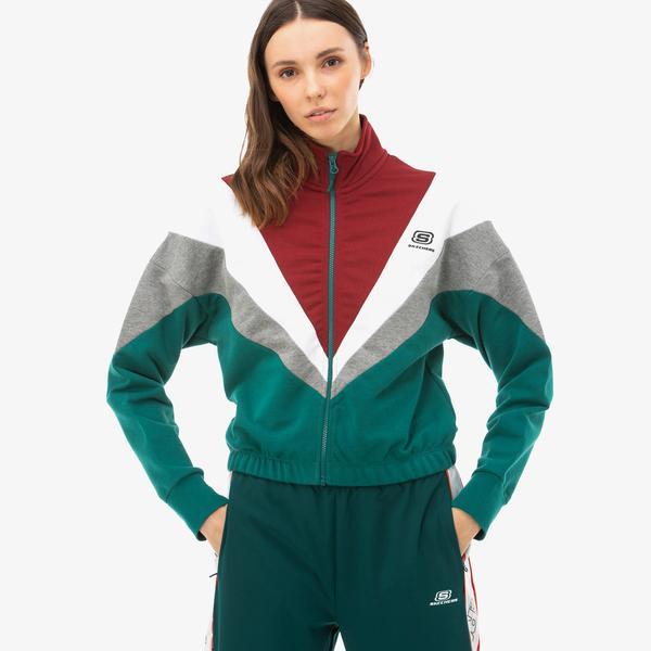 Skechers High Vibes 2 Kadın Mavi Ceket