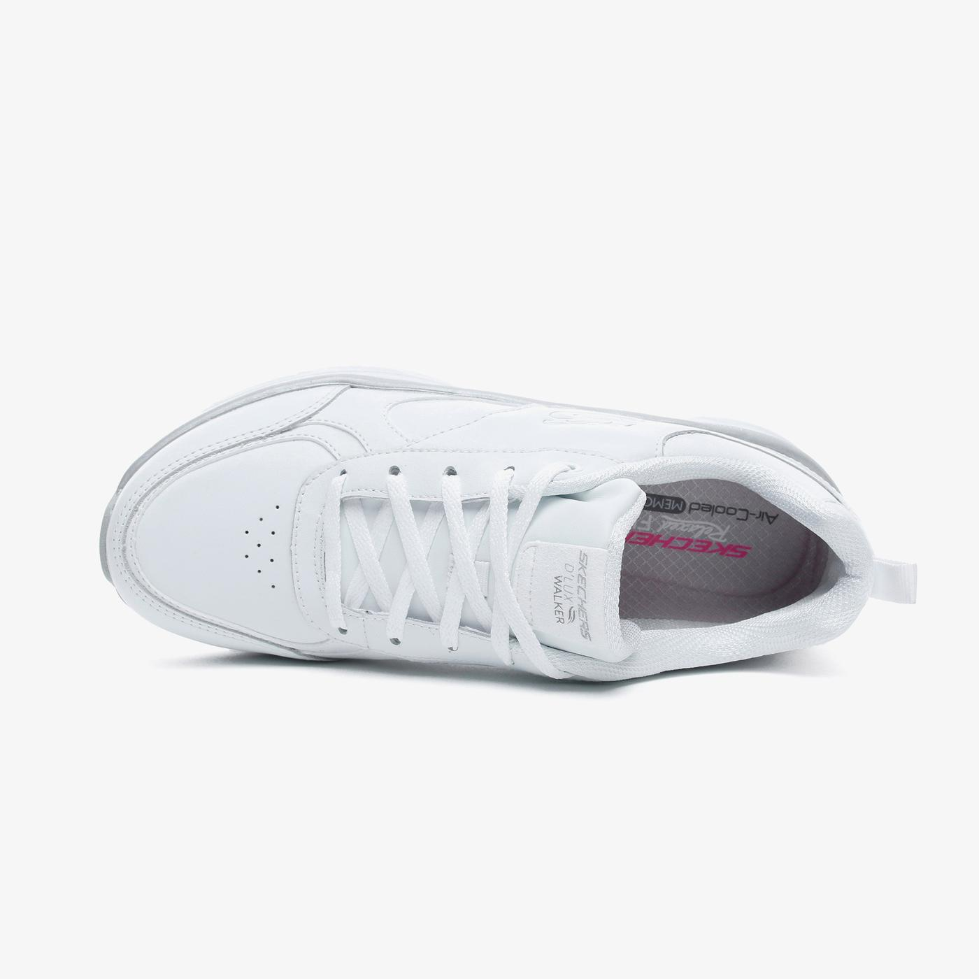 Skechers D'Lux Walker-Timeless Path Kadın Beyaz Spor Ayakkabı