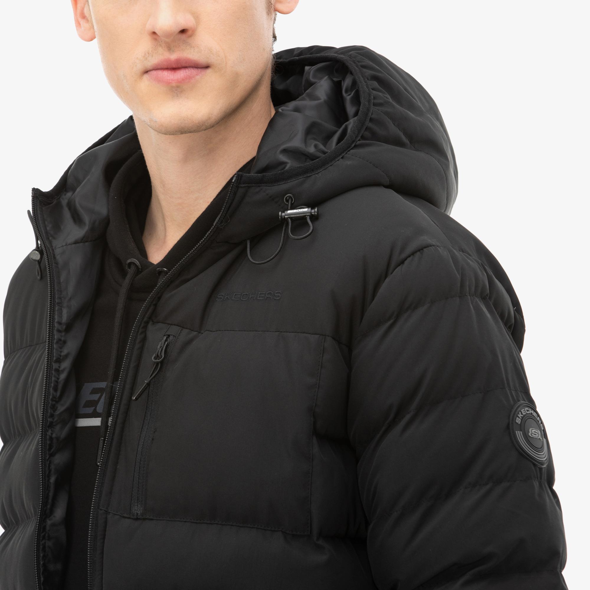 Skechers Outerwear Erkek Siyah Mont