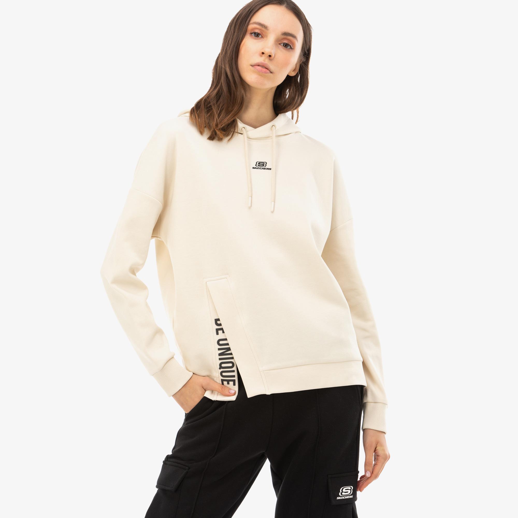 Skechers 2X I-Lock Kadın Kahverengi Sweatshirt