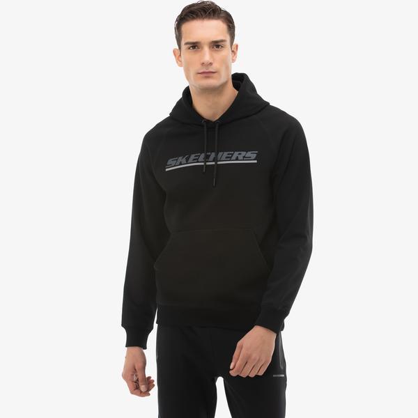 Skechers LW Fleece Erkek Siyah Sweatshirt