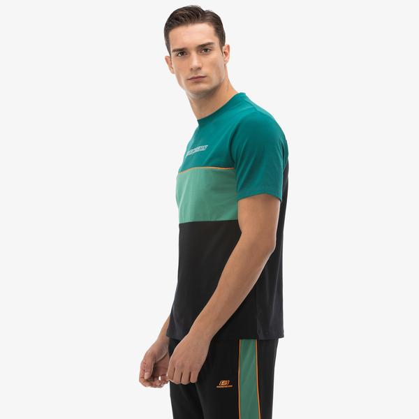 Skechers High Vibes 2 Erkek Mavi T-Shirt