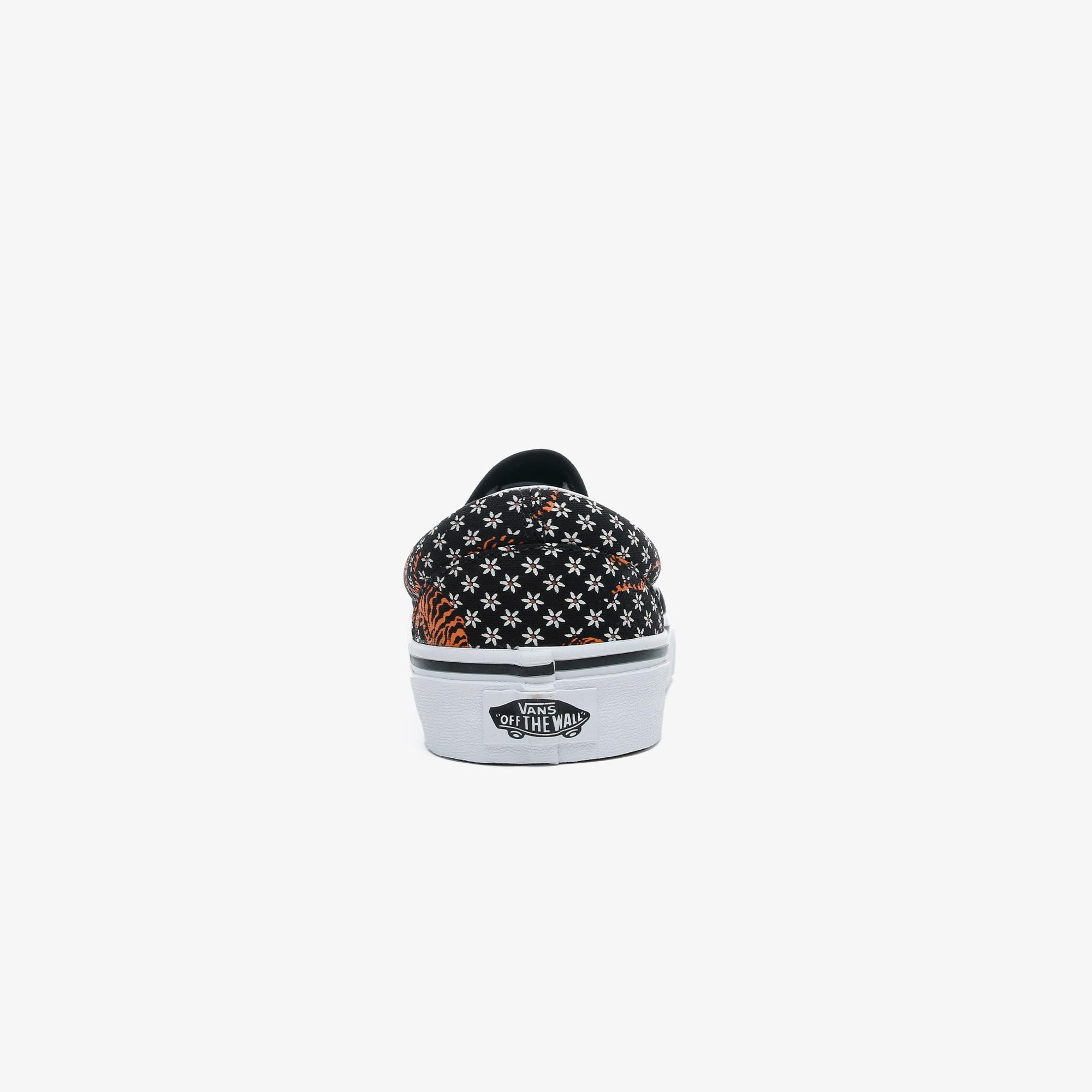 Vans Tiger Floral Classic Slip-On Kadın Beyaz Sneaker