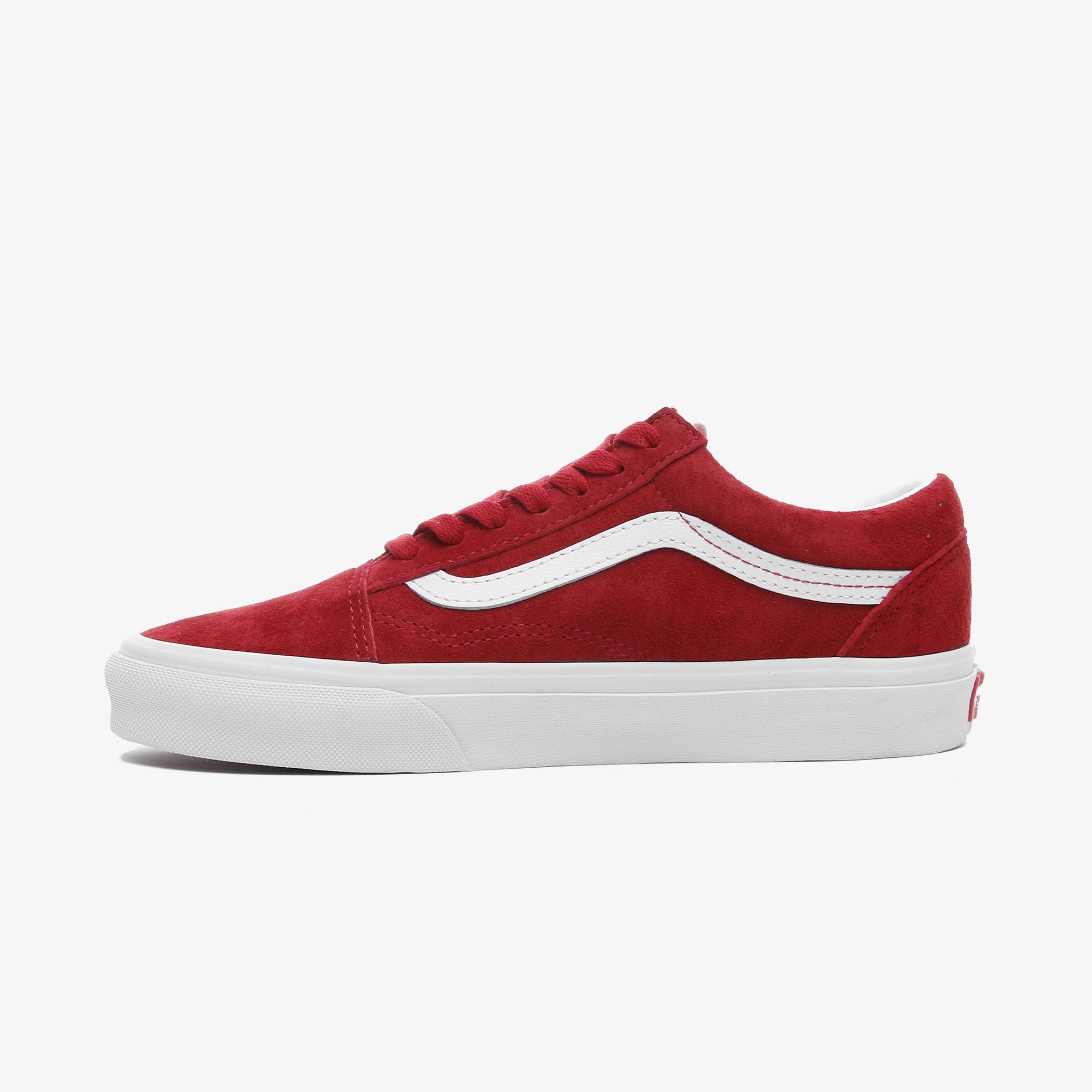 Vans Süet Old Skool Kadın Kırmızı Sneaker