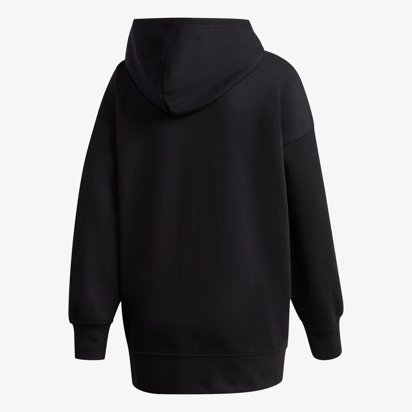 adidas Adicolor Halfzip Kapüşonlu Kadın Siyah Sweatshirt