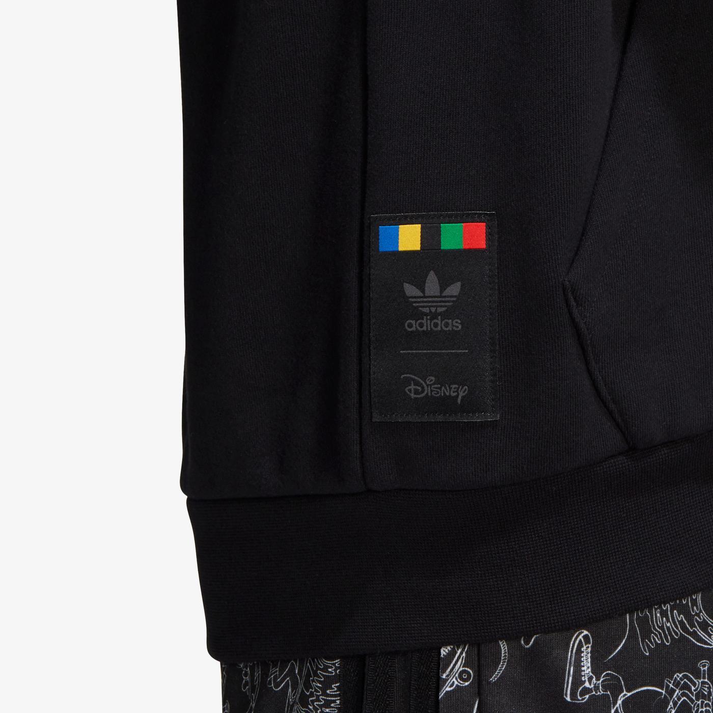adidas Goofy Kapüşonlu Erkek Siyah Sweatshirt