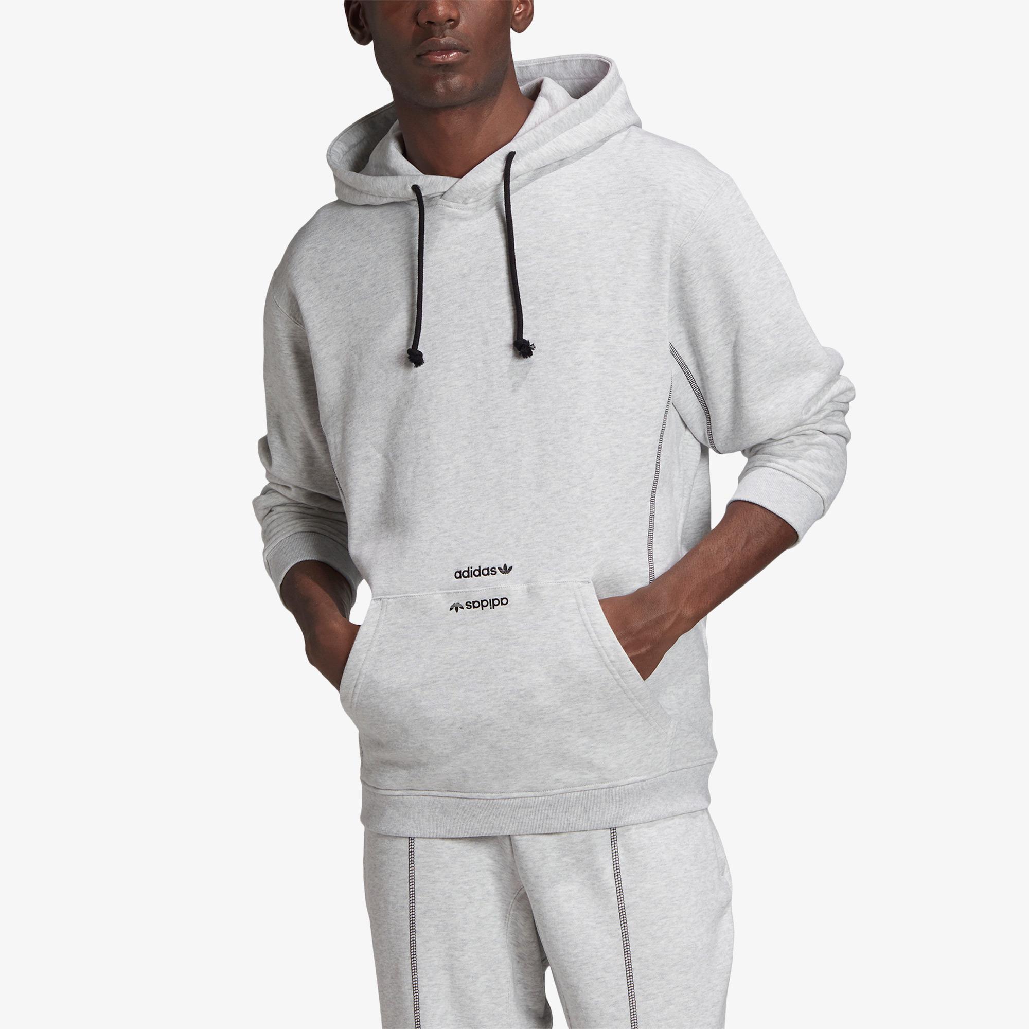 adidas Kapüşonlu Erkek Gri Sweatshirt