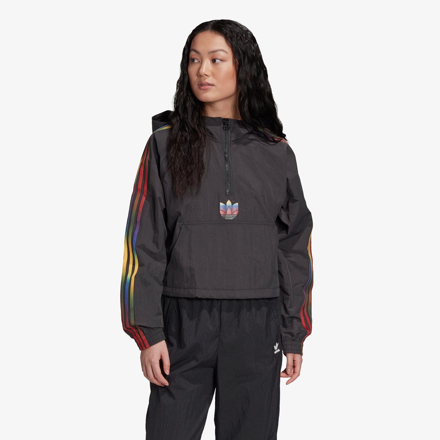 adidas Adicolor Halfzip Kadın Siyah Sweatshirt