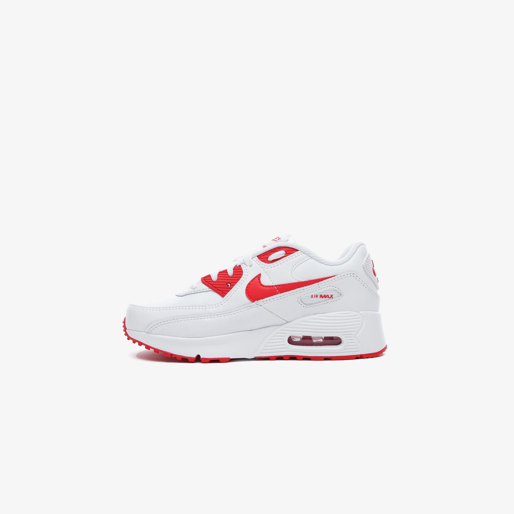Nike Air Max 90 LTR Çocuk Beyaz-Kırmızı Spor Ayakkabı