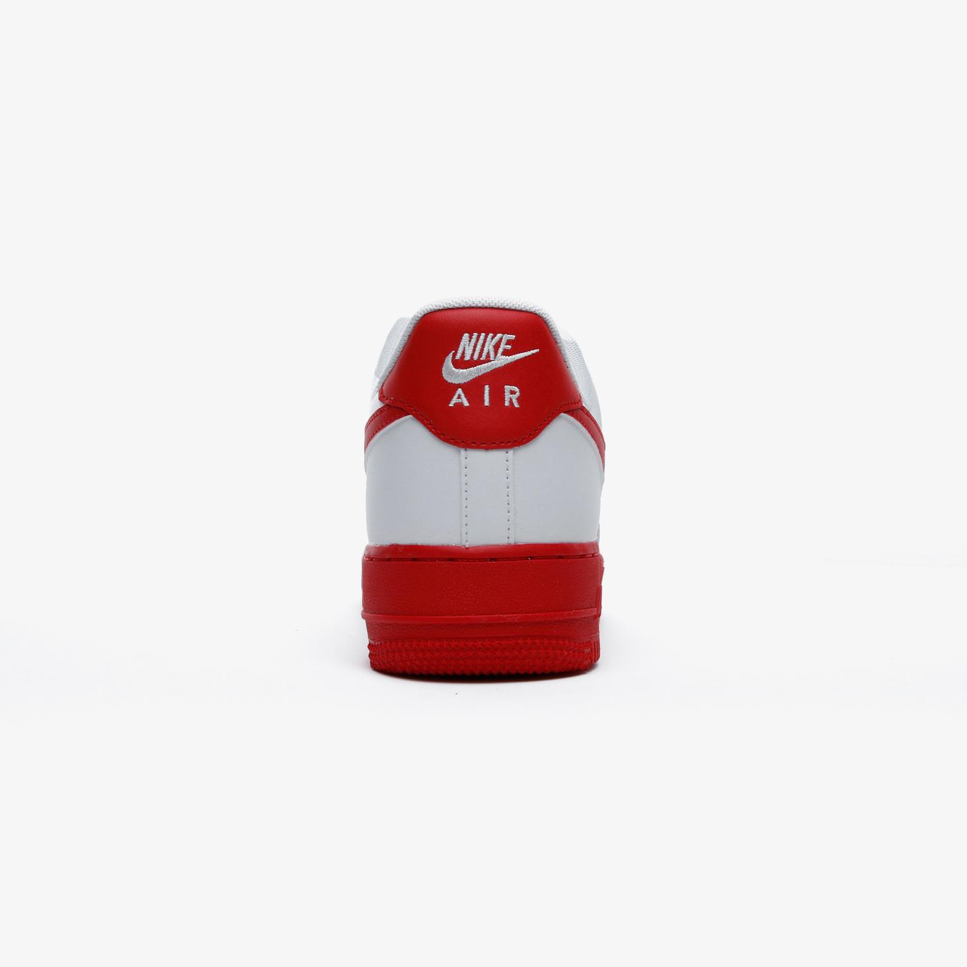 Nike Air Force 1 Low Erkek Beyaz-Kırmızı Spor Ayakkabı