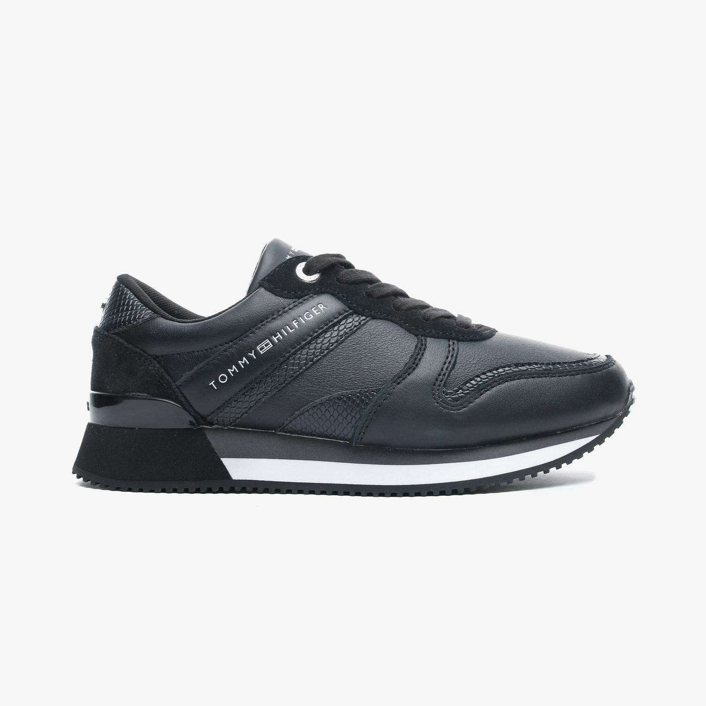 Tommy Hilfiger Corporate Feminine City Kadın Siyah Spor Ayakkabı