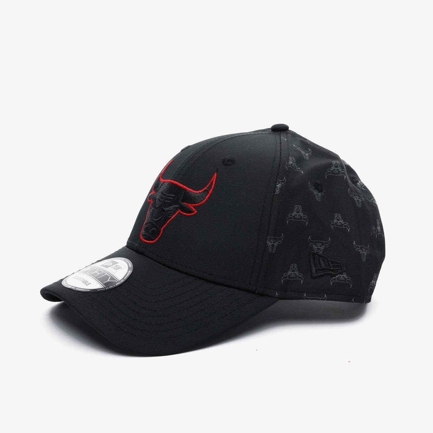 New Era Nba Nylon 9Forty Chicago Bulls Unisex Siyah Şapka