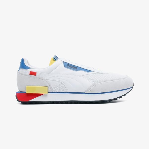 Puma Future Rider Neon Play Erkek Beyaz Spor Ayakkabı