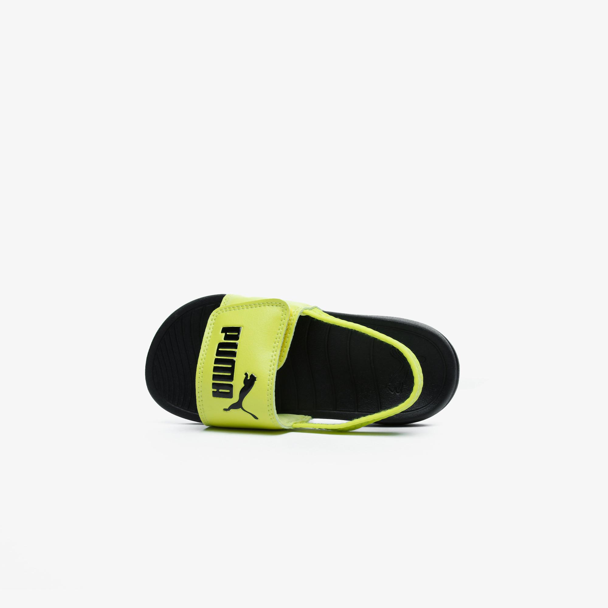 Puma Popcat 20 Backstrap Çocuk Siyah Sandalet