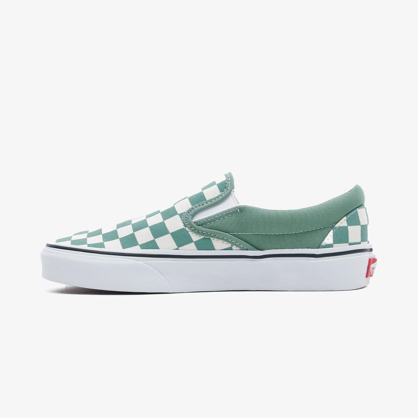Vans Classic Slip-On Checkerboard Kadın Yeşil Sneaker