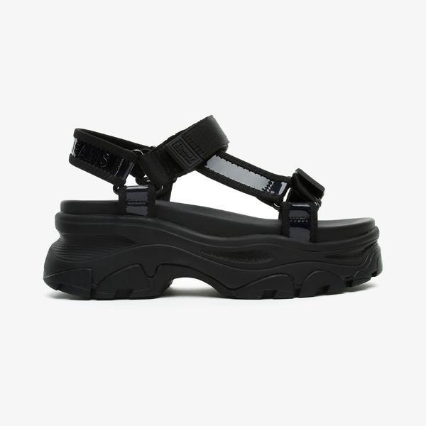 Tommy Hilfiger Iridescent Hybrid Kadın Siyah Sandalet