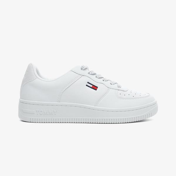 Tommy Hilfiger Reflective Basket Kadın Beyaz Spor Ayakkabı